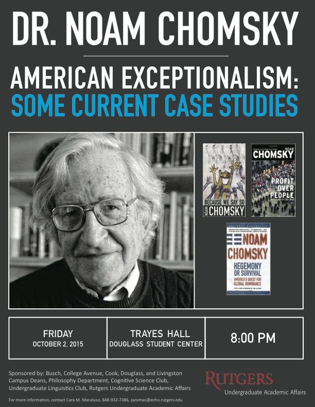 Flyer2015 09 15Dr. Noam Chomsky vol2 black and white