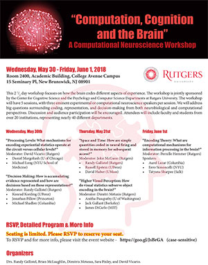 Computational Neuroscience Workshop - May 30-June 1